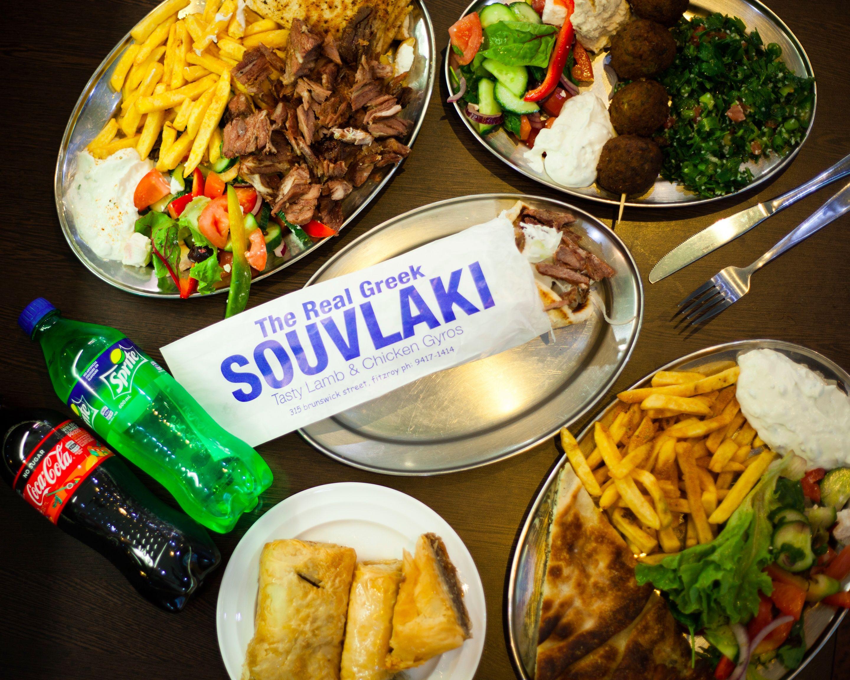 The Real Greek Souvlaki Bar Delivery | Fitzroy | Uber Eats
