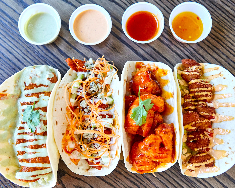 Order 3 Flights Up Taps & Tacos Delivery Online | Dallas ...